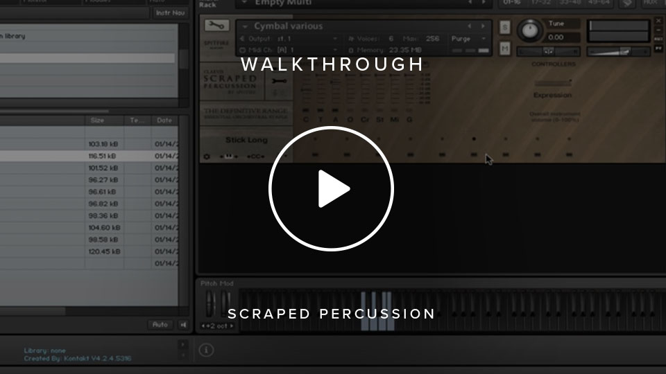 Scraped Percussion